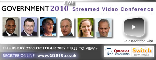 Government 2010 Live Video Conference October 22nd 2009